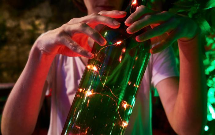 natale ricicla bottiglie