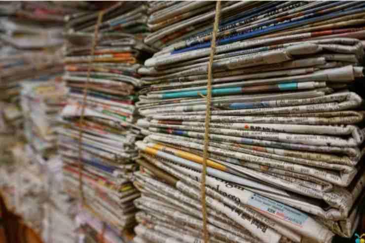 Riutilizzare i giornali vecchi in modo intelligente