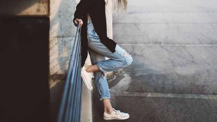 jeans larghi in vita