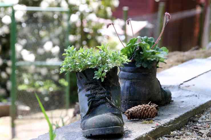 gettare vecchie scarpe
